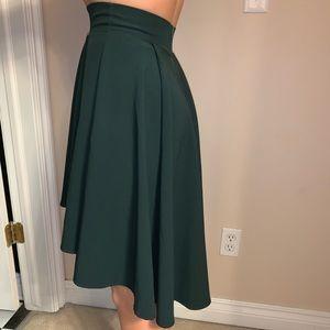 Green hi-lo skirt